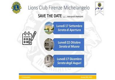 Save the date – i prossimi appuntamenti 2018-2019