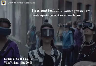Realtà virtuale aumentata – 21 gennaio 2019